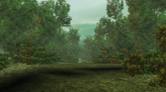 Walking in the bamboo forest,3d game animation scene. Stock Footage