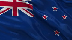 Flag of New Zealand seamless loop Stock Footage