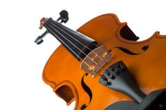 Violin isolated on white Stock Photos