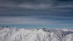 Austria Tirol alpine winter landscape time lapse HD Stock Footage