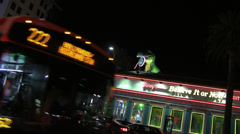 Metro Bus Passes in Front of Ripley's Believe It Or Not Stock Footage