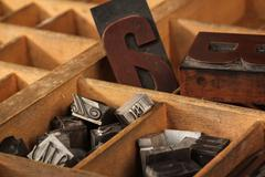 Letter case, different types Stock Photos