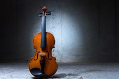 Violin on concrete wall Kuvituskuvat