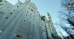 Neuschwanstein New Swanstone Castle Bavaria Germany Stock Footage