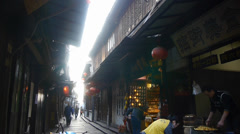 Traditional Chinese houses & street in the morning,XiTang Water Town,shanghai,C Stock Footage