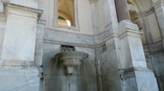 Acqua Paola fountain detail in  Rome, Italy Stock Footage