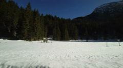 Road in Austrian Alps - stock footage