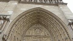 Notre-Dame de Paris also known Notre-Dame Cathedral,Paris (PARIS Notre Dame 3) Stock Footage