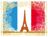 Stock Illustration of eiffel tower artistic background. vector illustration.