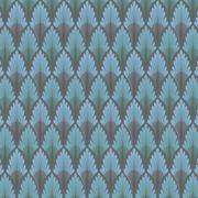 Vintage seamless pattern.  blue wallpaper abstract. Stock Illustration