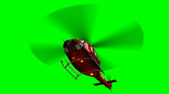 Helicopter Bell UH1 Huey - Air Rescue in fly - green screen Stock Footage