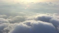 Aerial corsica sky sun clouds Stock Footage