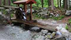 Waterfall wheel near stuiben waterfall Stock Footage