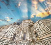 Florence. beautiful renaissance cathedral santa maria del fiore - italy Stock Photos