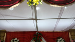 Flowers decoration on stage Stock Footage