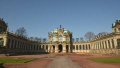 germany zwinger palace hyper time lapse vertigo 11298 - stock footage
