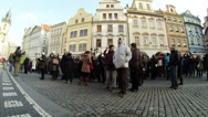 Stock Video Footage of Crowd of Tourists in Prague Slow Mo