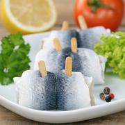 fresh herring fish - stock photo
