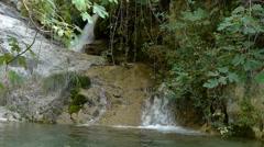 River between vegetation Stock Footage