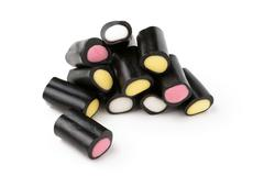 liquorice pencils - stock photo