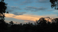 Timelapse rolling clouds. Colorful sky, sunset view. Beautiful scene. Stock Footage