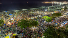 Pope's visit to Brazil, Copacabana Stock Footage
