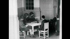 WW2 - City Hadamar - Interrogation of German Scientists 01 Stock Footage