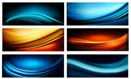 Stock Illustration of set of business elegant colorful abstract backgrounds. vector illustration
