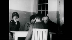 WW2 - City Hadamar - Interrogation of German Scientists 03 Stock Footage