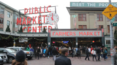 Pike Place Market in Seattle. Stock Footage