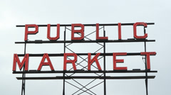 Public Market sign. Stock Footage