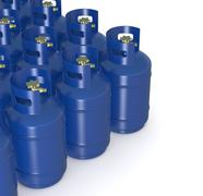 methane gas cylinders - stock illustration