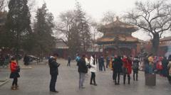 Beijing Lama Temple Yonghegong 04 Stock Footage