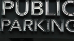 Public Parking. Stock Footage