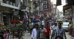New Delhi Pahar Ganj market time lapse 4k Stock Footage