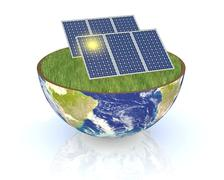 Stock Illustration of concept of renewable energy
