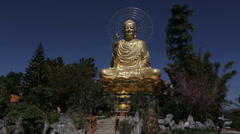 Golden Buddha in Da Lat, Vietnam Stock Footage