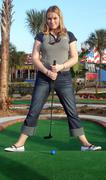 Adventure golf - stock photo