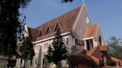 Catholic Church in Da Lat, Vietnam Stock Footage