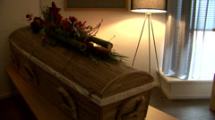 Coffin funeral Stock Footage