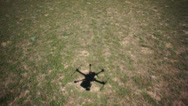 Stock Video Footage of UAV Multirotor shadow