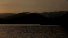 Sunset over Lake Near Da LAt Stock Footage