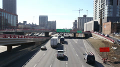 Chicago's Kennedy expressway traffic, video Stock Footage