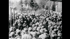 WW2 - German Labor Camp - US Troops - Visit 02 Stock Footage