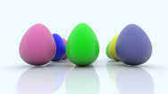 Stock Video Footage of Easter eggs