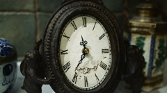 4k Timelapse Sequence of old antique clock - stock footage