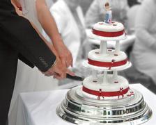 Cutting the Cake - stock photo