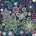 Stock Illustration of colorful floral seamless pattern in cartoon style. seamless pattern can be us
