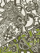 abstract background in graffiti style - stock illustration