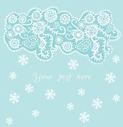 Stock Illustration of ornamental christmas background, snowfall